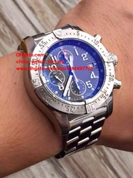Wholesale 48mm Mens Watches - Luxury High Quality Watch 48mm SuperAvenger A13371 Black Dial Swiss ETA 7750 Movement Chronograph Working Automatic Mens Watch Watches