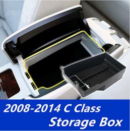 Wholesale c gloves - Central Armrest Storage Glove Holder Container Organizer Tray Box For Mercedes-Benz C class W204 2008-2014