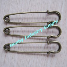 Wholesale Kilt Wholesale - pack of 100 pcs 76 mm antique Bronze Color Kilt Safety Pin Brooch Findings free shippping