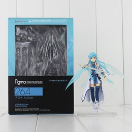 Wholesale Sword Art Online Action Figures - 13cm Sword Art Online Figma 264 PVC Action Figure Toy Collection Model for kids gift free shipping retail