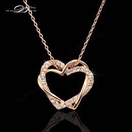 Colares de platina para mulheres on-line-Clássico Amor Coração Designer CZ Diamante Partido Colares Pingentes de Ouro 18 K / Platinadas Jóias de Casamento Para As Mulheres DFN062 / DFN063