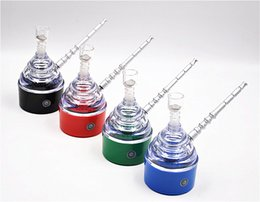 Wholesale Electric Smoking Pipes - Wholesale Electric Glass Smoking Pipe Shisha Hookah Mouth Tips Cleaner Tobacco Smoking Pipes Snuff Snorter Vaporizer