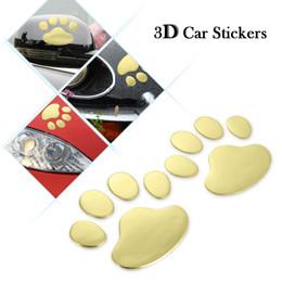 Wholesale Car Stickers Auto Emblem Decals - Auto PVC Cute Pet Animal Footprints Emblem Car Truck Decor 3D Personalized Sticker Decal Auto Vehicle Motorcycle Styling Paster