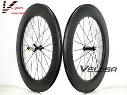 Wholesale U Wheels - Outlet,Full carbon 88mm road bike wheelset, 88mm clincher tubular ,700C road bike wheel 25mm width U shape rim
