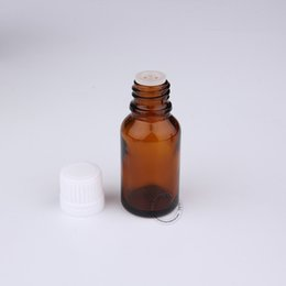 Wholesale Amber Glass Bottles 2oz - 5 x High Quality 15ml 15cc Amber Essential Oil Bottles 1 2oz Glass Bottle With Tamper Evident Cap Reducer Dropper Free Shipping