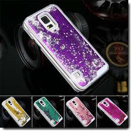 Wholesale S4 Liquid - Bling Dynamic Glitter Star Liquid Quicksand Case Cover Shining Star Case For iPhone 4 5 6 Plus Samsung Galaxy S4 S5 S6 Note 3 Note 4