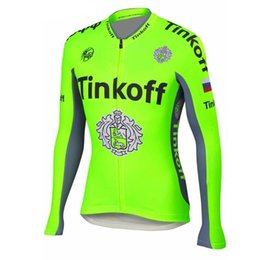 Wholesale Fluorescent Jerseys - Winter 2017 Pro Team Fluorescent Green Cycling Clothing Ropa Ciclismo  Winter Thermal Fleeced Cycling Jersey MTB Bike jersey
