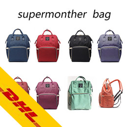 Wholesale Nappy Bag Multifunctional - 2017 Authentic Multifunctional Mommy Backpacks Nappies Bags Mother Maternity Diaper Backpacks High Capacity Outdoor Travel Bags 8 colors