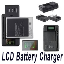Wholesale Dock Charger Battery S3 - Universal Intelligent LCD Indicator battery Charger For Samsung S4 I9500 S3 I9300 NOTE 3 S5 With Usb Output Charge US EU AU PLUG