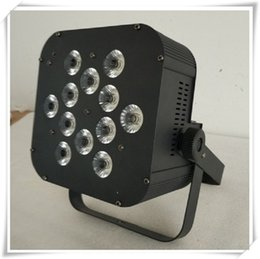 Wholesale Led Uv Light Flat - (8 pieces lot) free shipping 12x18w rgbwa uv 6in1 flat par led stage lighting led slim par