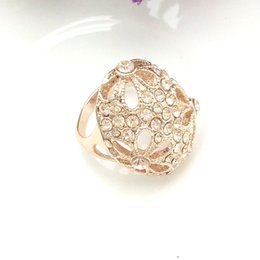 Wholesale Free Stone Peach - Mavis Ornament Hot Sale Gold Rings Fashion Jewelry New Women's Party Rose Gold Plating Light Peach Color Ring High Quality Free Shipping