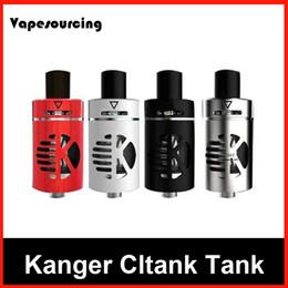 Wholesale Original Kanger Pyrex - Original Kanger CLTANK Tank 2.0ml 4.0ml Top Refilling Sub Ohm Atomizer pyrex glass tank with CLOCC Coils by Kangertech DHL Fast