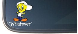 "Wholesale Funny Pad - Tweety ""WHATEVER""  Decal vinyl car i pad laptop phone window stickers wall funny sticker decal stickers decals"