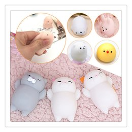 Wholesale Cute Dolls Photos - 10Pcs 3D Cat Squishies Mini Squeeze Toy Cat Squishy Cute Kawaii doll Squeeze Stretchy Animal Healing Stress Hand Fidget Toys Cellphone Case
