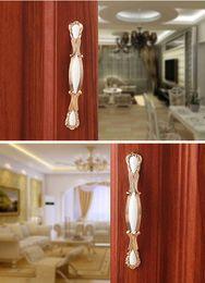 Wholesale Nickel Cabinet Handle - Zinc Alloy European Gold Drawer Door Handle Cabinet Door Handle Cabinet Knobs