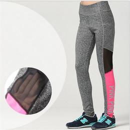 Wholesale Sexy Yoga Pants - Vs Pink Leggings Secret Spring Sexy Yoga Fitness Printing Leisure Sports Victoria Leggings Stitching Pants Tights