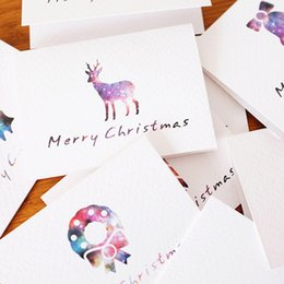 Wholesale Noel Christmas Ornament - 50Pcs  Lot Christmas Cards Greeting Card 3D Card Postcard Gift Xmas Noel Christmas Decorations For Home Ornaments New Year