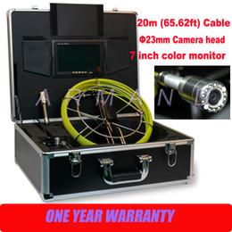 Système de caméra d'inspection en Ligne-Endoscope 710 caméra d'inspection des tuyaux d'égout Drain System Inspections de la caméra avec boîtier de commande et tête de caméra 23mm