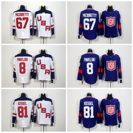 Wholesale Olympic Cup - 2016 World Cup Team USA Olympic Games 67 Max Pacioretty Jersey,ICE Hockey 81 Phil Kessel Jerseys Embroidery 8 Joe Pavelski Blue White
