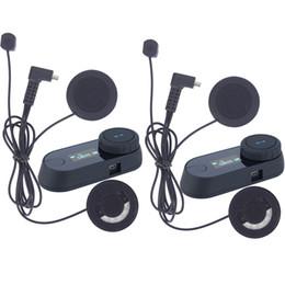 Wholesale Car Radio Motorcycle - BT Bluetooth Motorcycle Helmet Intercom Interphone car Headset LCD screen FM Radio+Soft Earphone Support 2 Riders Talking at the same time