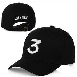 2019 gorras hip hop Populäre Singer Chance Die Rapper Chance 3 Cap Schwarz Brief Stickerei Baseballmütze Hip Hop Streetwear Snapback Gorras Casquette günstig gorras hip hop