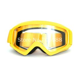 Motocross elmetto giallo online-giallo motociclo accessori maschere da snowboard Occhiali da sci uomini motocross all'aperto casco antivento Goggle