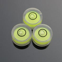 Wholesale Levels Wholesale - (100 Pieces Lot) 12*6mm Acrylic Round Bubble Level Mini bubble level burbuja nivel mini spirit level Green Color