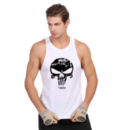Wholesale Green Army Figures - Wholesale- Sleeveless vest in the summer of 2016 the fitness stringer sexy tight bone vest camiseta man sin comic figure movement
