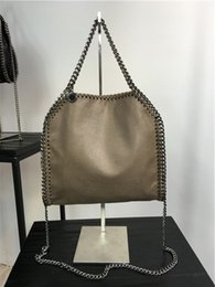 Wholesale Green Cotton Tote Bag - size:26*25*10 cm high quality women pvc chain handbag gray 3 chains crossbody fold over ladies tote shoulder bags