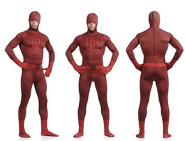 Wholesale Kids Catsuit Costume - Unisex Adult Kids Full Body Dare Devil Lycra Spandex Superhero Zentai Suits Halloween Costume S M L XL XXL