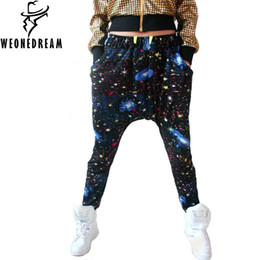 Wholesale Hiphop Jogging Pants - Wholesale-WEONEDREAM 2016 Men Cross-Pant Summer Fashion Loose HipHop Harem Pants Print Sport Jogging Street Elastic Waist Sweatpant