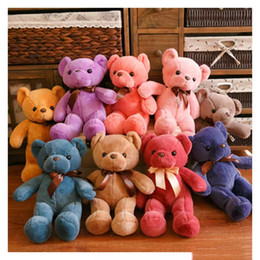 Wholesale Teddy Bear Wholesalers Quality - hight quality cute 33CM Soft Teddy Bears Plush Toys Stuffed Animals Bear Dolls with Bowtie Kids Toys for Children Birthday Gifts Party Decor