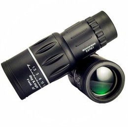 Wholesale Monocular 16x52 - 16x52 Monocular HD Telescope Dual Focus Zoom Powerful Monocular Binoculars High times with black color For Bird-watching Gifts Best