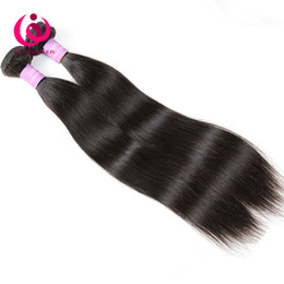 Wholesale Natural Hair Products Wholesale - 8A Malaysian Straight Hair Weave Bundles 2pcs lot Wow Queen Hair Products Brazilian Peruvian Indian Malaysian Virgin Human Hair Extensions