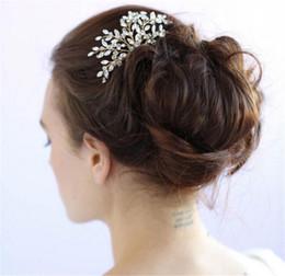 Wholesale Vintage Rhinestone Hair Clips - Vintage Wedding Bridal Hair Accessories Crystal Comb Headpieces Rhinestone Gold Silver Tiara Women Fashion Prom Hair Jewelry Pins Clips