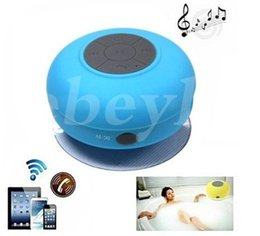 Wholesale Shower Surrounds Wholesale - New Portable Waterproof Wireless Bluetooth Speaker Shower Car Handsfree Receive Call & Music Suction Phone Mic Promotion