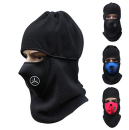 Wholesale Motorcycle Face Covering Mask - Wholesale 200pcs lot Cycling Windproof Helmet Cap Motorcycle Face Mask hat Cover For Sports Bicycle Thermal Fleece Balaclava Hat