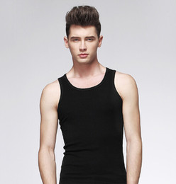 Wholesale Boys White Vest - Wholesale- New 2016 Popular Mens Boys Tank Top Muscle Sleeveless T-shirt Sportwear Vest Undershirt Black Gray & White XL-3XL Free Shipping