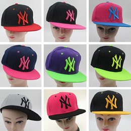 Wholesale Ny Snapbacks - New NY pink baseball caps flat along Snapbacks can be adjusted Hip hop dance lovers hats for men and women CC558