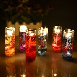 Wholesale Cup Jelly - Art Candles For Valentine's Day Birthday And Make A Proposal Candles With 6 Color,Aroma Jelly Wax Candles Product Code:120-1011
