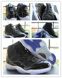 Wholesale Glitter Box - [With Box]Cheap New Air Retro 11 XI Mens basketball shoes Sneakers 11s Space Jam 45 Black Carbon fiber JXI men athletic Running shoes US8-13