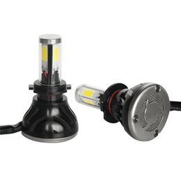 Faros kit 24v 12v online-1 Par / set 40 W H7 4000LM 6000k 12v-24v Blanco LED Luces del automóvil Faros Funcionamiento diurno Lámparas de conducción Super Power kit a prueba de agua
