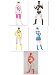 Wholesale Hot Superhero Costumes - Hot Jetman Spandex Superhero Costume Halloween Cosplay Party Zentai Suit