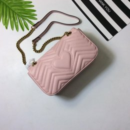 Wholesale Gold Chain Top - TOP Quality Marmont Famous Handbag Vintage Brand Gold Chain and Hardware Cowhide W V Pattern Shoulder Purse Disco Soho Bag 443497 175243810