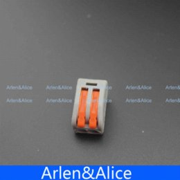 Wholesale Amp Crimp Terminals - 20pcs 2 Pin Universal compact wire wiring connector conductor terminal block with lever connector crimp connector amp