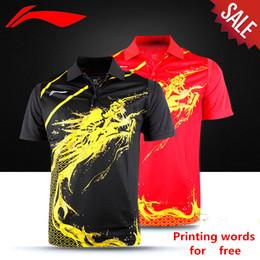 Tischkleidung online-Wholesale EMS für freies, Textdruck für freies, neues badminto1n Hemd kleidet Tischtennis T Sporthemd kleidet 1055