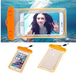 Wholesale Dive Seal Bags - Sealed Waterproof Phone Case Bag Pouch Luminous Phone Cases Universal Diving Bag For Iphone 6 Plus Galaxy S7 edge LG Mobile Phones