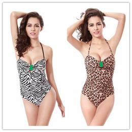 Wholesale Sexy Leopard Print Swimsuit - Hot selling high-grade new sexy Leopard grain One Piece Swimsuit Women Swimwear Retro Vintage Bathing Suits Beachwear Print Swim Wear