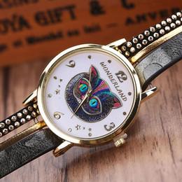 Wholesale Braided Wrap Watch - Xiniu Fashion Women Owl Wrap Braided Leather Analog Quartz Bracelet Wrist Watch Woman Ladies Watch Clock Relogio Feminino Saat