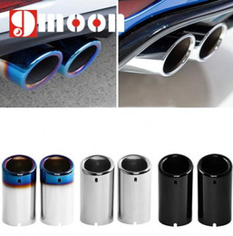 Wholesale Vw Exhaust - car styling Stainless steel Exhaust Muffler Tip Pipe auto accessories For VW Volkswagen Jetta MK6 1.4T Golf 6 Golf 7 MK7 1.4T